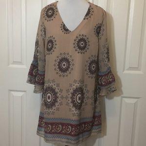 Umgee Lined Tunic Dress